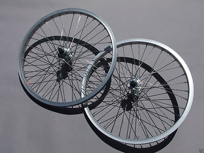 Olds School Bmx Sealed Bearing Hub Wheel Rim Stickers Black On Silver