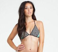 2015 Womens Billabong Line Up Triangle Bikini Top $45 M Off Black Swimwear