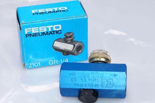 1 unidades 2101 Festo zorzal-válvula antirretorno tipo nuevo gr-1//4 embalaje original
