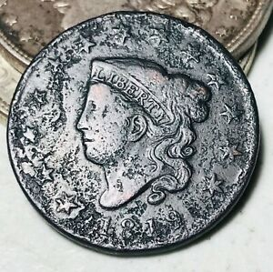 1819 Large Cent Coronet Head 1C Ungraded Good Date Early US Copper Coin CC5775