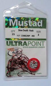 Mustad 33862R 25 pack Slow Death Aberdeen Hook