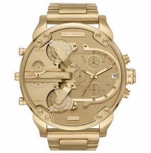 2018-NEW-Diesel-Mr-Daddy-2-0-All-Gold-Stainless-Steel-Chrono-Men-039-s-Watch-DZ7399