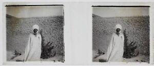 Africa Niger ? Foto C2 Placca Da Lente Stereo Vintage Ca 1910