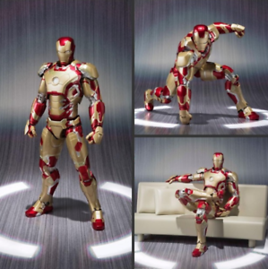 S.H.Figuarts SHF Iron Man 3 MK42//43 PVC Action Figure Statue Kids Toys Gifts