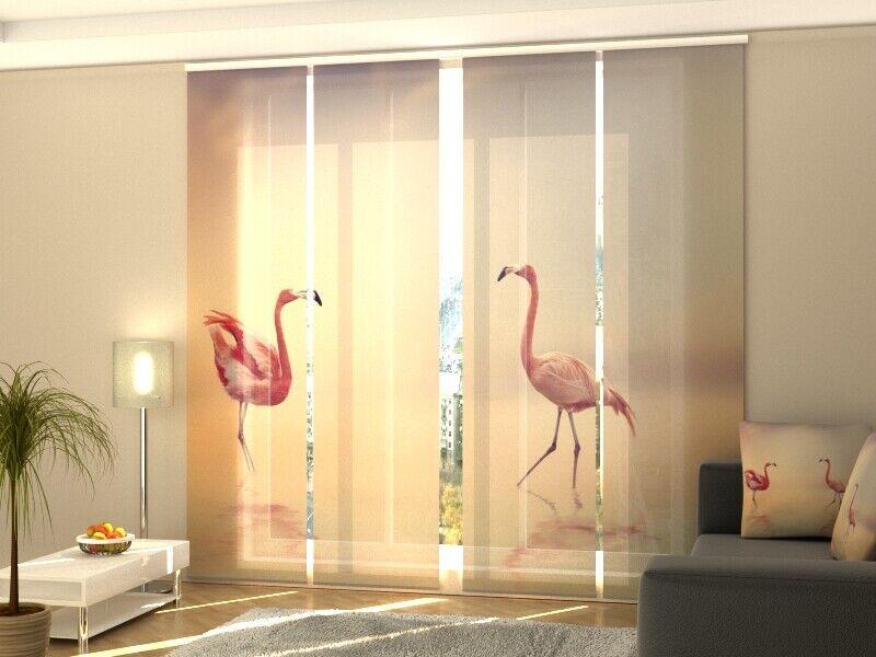 Fotogardine dos flamingos cortina de paneles SANELA cortina a medida