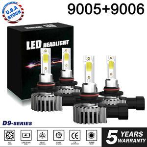 4x-9005-9006-240W-48000LM-Combo-LED-Headlight-High-Low-Beam-6000K-Bulbs-Kit