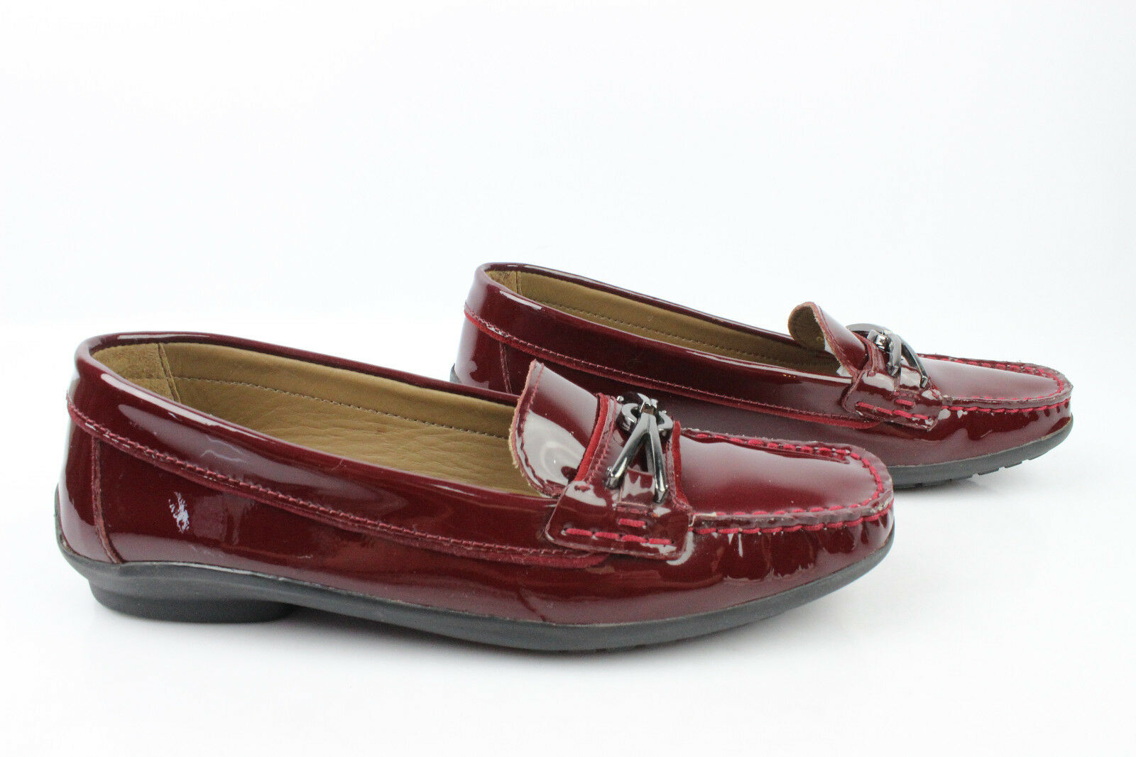 Mocassin GEOX Patent leather Bordeaux T 36 VERY GOOD CONDITION