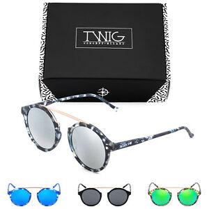 Sunglasses TWIG MALLARME round men/women mirrored vintage retro