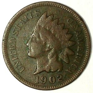 1902  INDIAN  HEAD  CENT #8