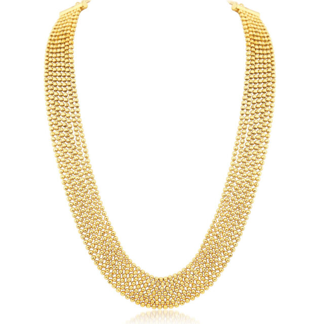 Sukkhi Amazing 7 String Gold Plated Necklace set For Women (N71436GLDPP1000)
