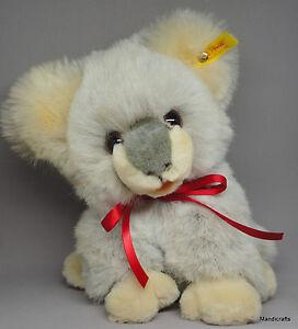 Steiff Pummy Koala Bear Woven Fur Plush 21cm 9in ID Button Tag 1989 -90 only Vtg