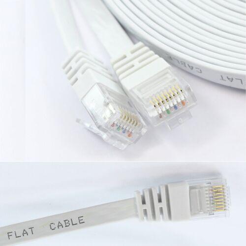 1m-30m Premium Flat Ethernet RJ45 Cat6 Cable Network Patch Lead 100/% Copper lot