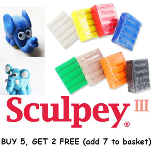 SCULPEY Professional Polymer Modelling Oven Bake Clay 57g Buy 5 Get 2 Free