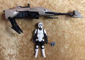 Star-Wars-Vintage-1983-Speeder-Bike-Scout-Trooper-Orig-Weapon-Kenner-RTJ-Taiwan