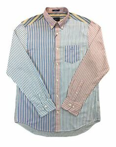 Gant-Oxford-stripe-cotton-casual-shirt-in-multicolored-stripe-panels