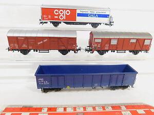 AQ700-1-4x-Maerklin-H0-AC-Bastler-Gueterwagen-Gala-SBB-CFF-DB-etc-NEM