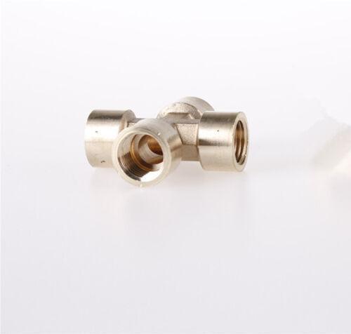 """1 un 4 formas 1//4/"""" BSP acoplador latón tubo de conexión cruzada Hembra Adaptador"""
