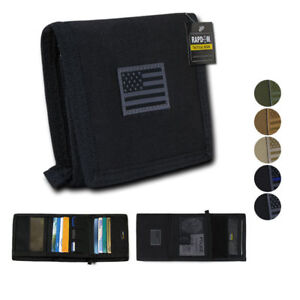 RapDom-Mens-Tri-Fold-Wallet-Tactical-Military-Tonal-USA-Flag-Choose-Color