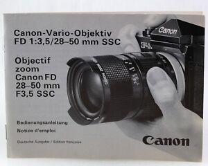 Bedienungsanleitung-Canon-Vario-Objektiv-FD-1-3-5-28-50mm-SSC-Anleitung
