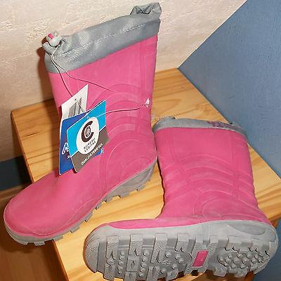 Qualitäts Kinder Mädchen Stiefel Gr 33/34 gepolstert für Winter Herbst rosa neu!