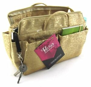 Image Is Loading Periea Handbag Organiser Insert Keriea Gold 13 Compartments
