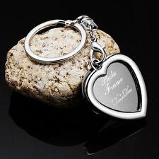 Metal Insert Photo Frame Custom Keyring Key Ring Heart Keychain DIY Lover Gift