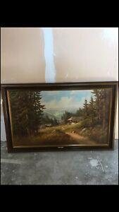 tableau-johannes-bochmann-ancien-vintage-XXe-siecle-19e-siecle-peinture-de-1922