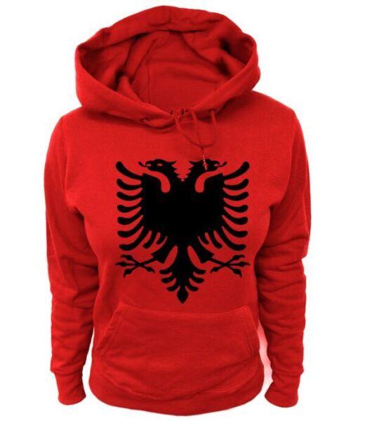 Damen Hoodie – Albanien Albania Wappen Adler Tirana Durrës Vlora Elbasan Shkodra