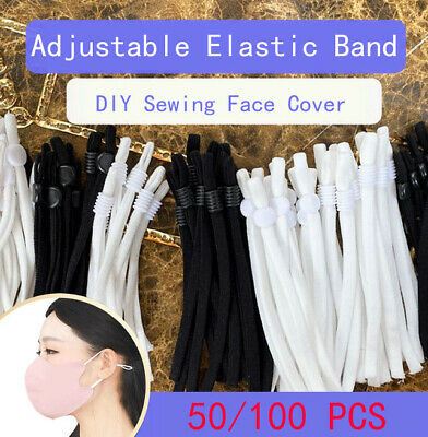 90pieces Adjustment Buckle Elastic Band Cord Adjustable For Sewing Face Cover