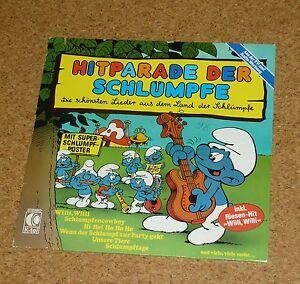 LP-Hitparade-der-Schluempfe-mit-Poster-Lieder-Kinderlieder