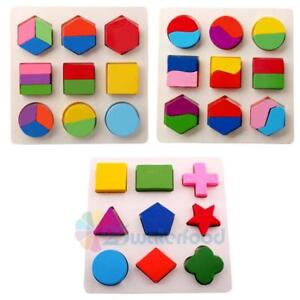 Funny Baby Kids Montessori Early Education Wooden Learning Toy Block Puzzle Toys