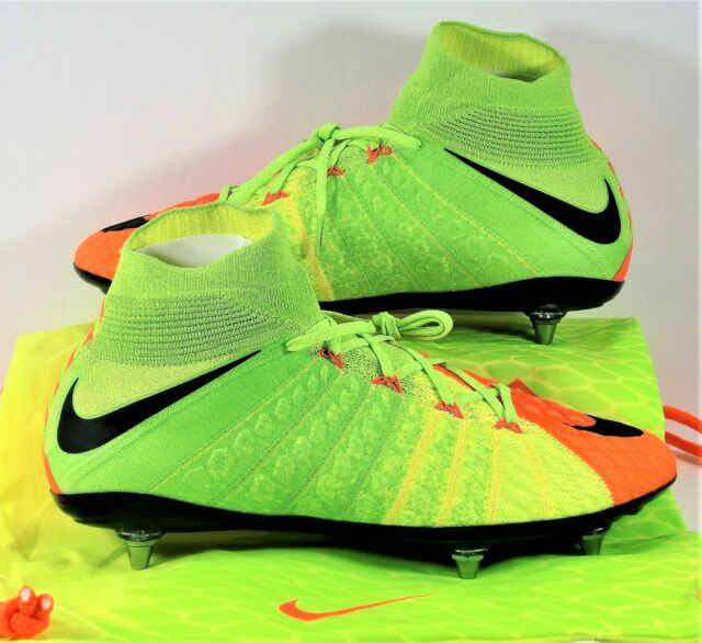 wholesale dealer 5d011 20c80 Nike Hypervenom Phantom III DF SG Flyknit ACC Soccer Cleat Sz 9 881780 309