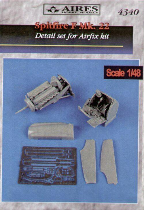 Aires 1 48 Spitfire F Mk. 22 detail set for Airfix kit