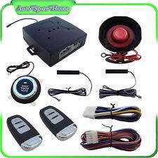Car Alarm System Keyless Entry & Engine Ignition Push Starter Button Kits Neat