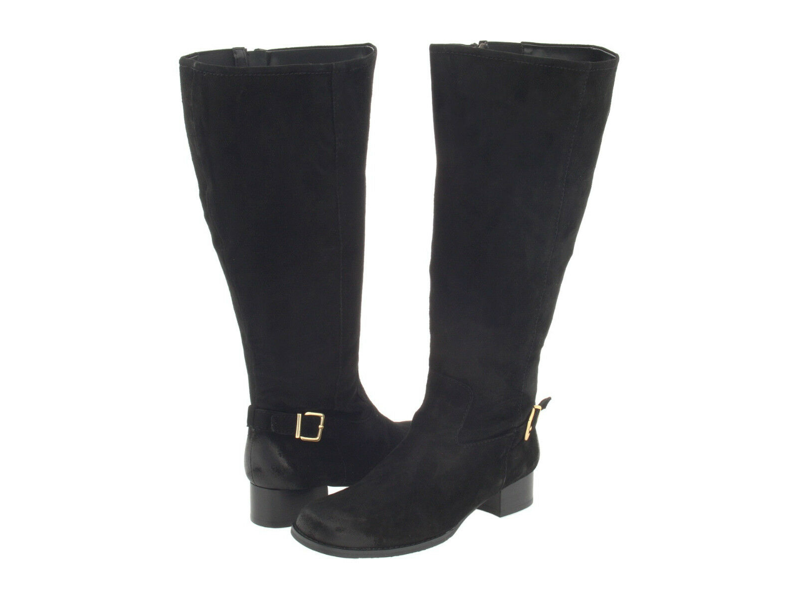 NEW ROSS ROS HOMMERSON BLACK WIDE SHAFT BOOTS WOMENS 5 KNEE HIGH