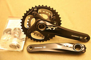 NEW-Shimano-XT-FC-M785-Dyna-Sys-MTB-Bike-Crankset-BB-38-26T-175mm-2x10-Black