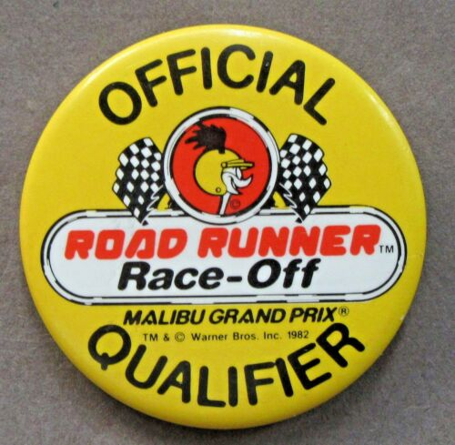 1982 TWEETY BIRD Official Road Runner RACEOFF QUALIFIER pinback button