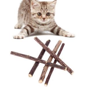 5x-Matatabi-Katzen-Kauhoelzer-Catnip-Snacks-Sticks-Katzenminze-Hoelzer-Katze-Holz
