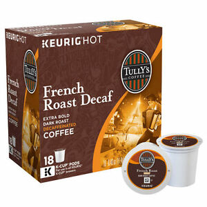 tully 39 s decaf french roast coffee keurig k cups 180. Black Bedroom Furniture Sets. Home Design Ideas