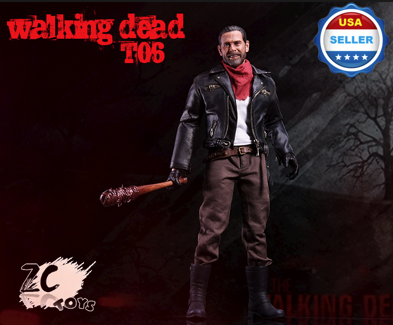 ZC TOYS 1 6 Negan Figure FULL Set with TWO Lucille the Walking Dead
