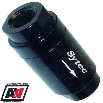 Sytec Motorsport One Way Non Return Fuel Valve 6mm Push On Hose Red Body ADV