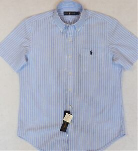 Ralph Lauren Featherweight Twill Button-Front Shirt Blue 2XB 2XLT NWT