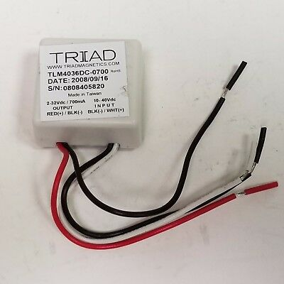 Power Supply 26W LED Driver 700mA Triad Magnetics TLM4036DC-0700 2-36V