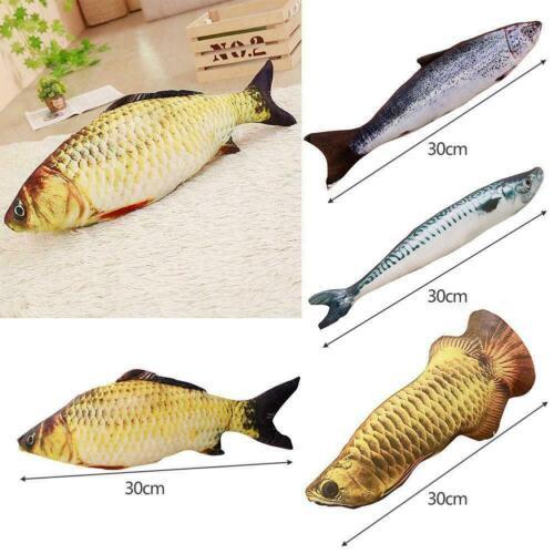"55/"" Soft Lucky Fish Carp Doll Plush Toy Stuffed Throw Trendy Cushion Pillow G9C7"