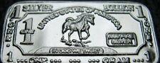 10 x Argent 999 Lingot d'argent Argent fin argenté Cheval cadeau neuf