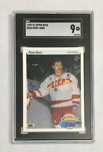 1990 Upper Deck Pavel Bure RC SGC 9, card #526 Canucks HOF