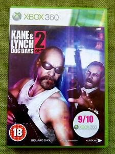 Kane & Lynch 2: Dog Days (Microsoft Xbox 360, 2010, PAL, Game, Complete)
