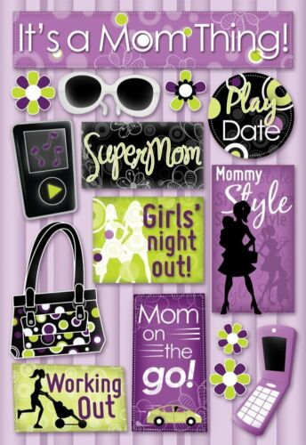 MOM Cardstock Stickers Scrapbook Card Making Mother/'s Day Choose Style
