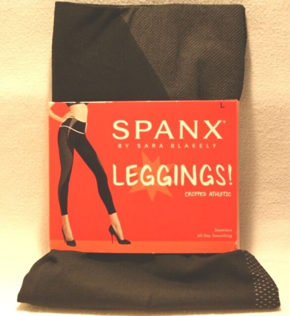 6a98e3b10c9a83 Spanx 20021r Cropped Athletic Seamless Leggings in Very Black Size M Medium