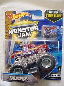 Team Ray Trucks >> Details About Monster Jam Shocker X Ray Body Team Flag Hot Wheels Die Cast Truck Car